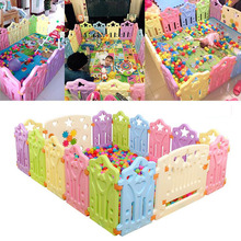 Fencing for Children Baby Playpen Fence Baby Safety Fence Play Yard Indoor Playpen Safety Barrier for Children barriere enfant(China)