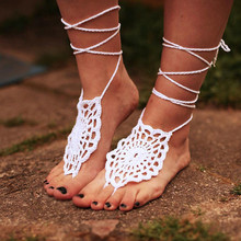 Crochet Gypsy Lolita Shoes Women Barefoot Sandals, Nude shoes, Beach wedding Anklet