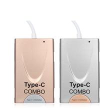 Hot selling 6 1 USB 3.1 Type C COMBO 3.0 HUB + OTG Card Reader + Type C Charging Adapter Macbook QJY99