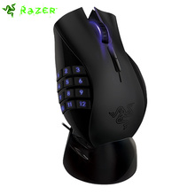 Razer Naga Epic 5600dpi Gaming Mouse 3.5G Laser Sensor Wireless Dual Mode 17 Programmable Buttons USB 2.4ghz Receiver Mouse(China)