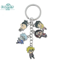 Halder Sale 2017 Anime Cartoon Anime Naruto Next Generations Keychain Charm Cell Phone Strap Accessories Metal Alloy Keychain(China)