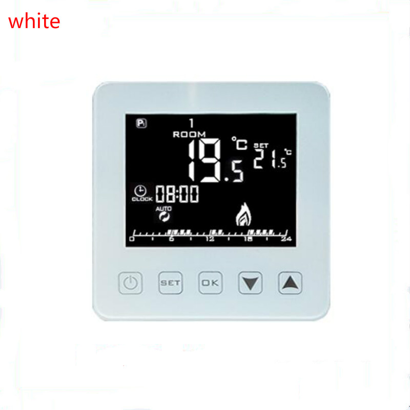 LCD Touch Screen Room Temperature Controller Thermostat Weekly Programmable Underfloor Heating  16A  200V<br>