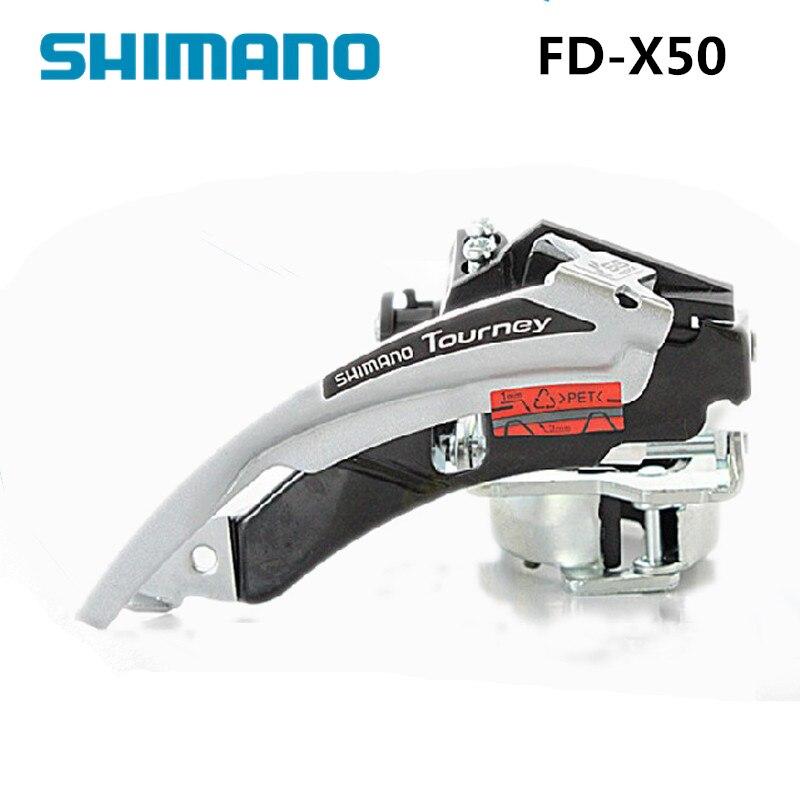 34.9mm 31.8mm 7-Speed 6 Shimano Tourney FD-TX51 MTB Triple Front Derailleur
