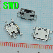 10pcs 5pin Female Micro USB Connector, SMD 4 Fixed feet, Widely used in tablet, phones and PDA #DSC0039(China)