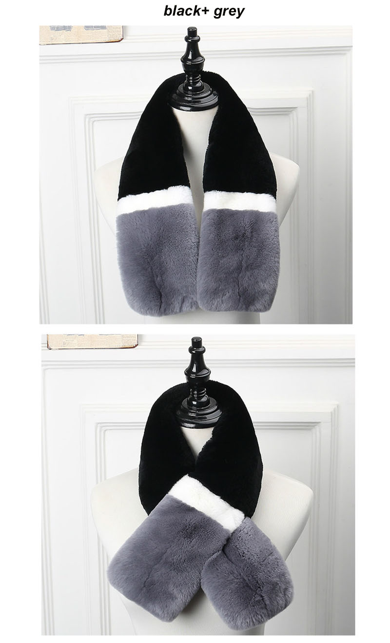 rex rabbit scarf grey ends  1