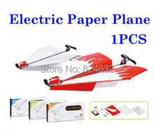 New  Electric paper plane flying plane toy power up paper airplane toys for childrenboys toys 1pcs