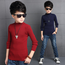 New Sale Childrens Sweaters Boy Turtleneck Knitwear Baby Solid Sweater Knitting Spring Fashion Brand Children's Clothing