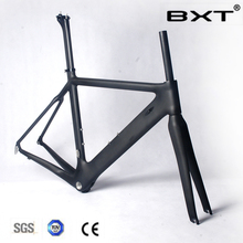 BXT In stock 2016 cheap full carbon fiber bicycle frame T800 racing bike frameset carbon bike frame with EMS free shipping(China)