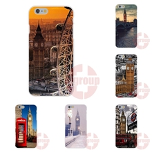 Soft TPU Silicon Art Print For Apple iPhone 4 4S 5 5C SE 6 6S 7 7S Plus 4.7 5.5 london big ben with aluminum frame