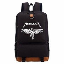 WISHOT  Classic Heavy Metal Metallica Rock backpack for teenagers Women's boy girl's School Bags travel Shoulder Bag Laptop Bag