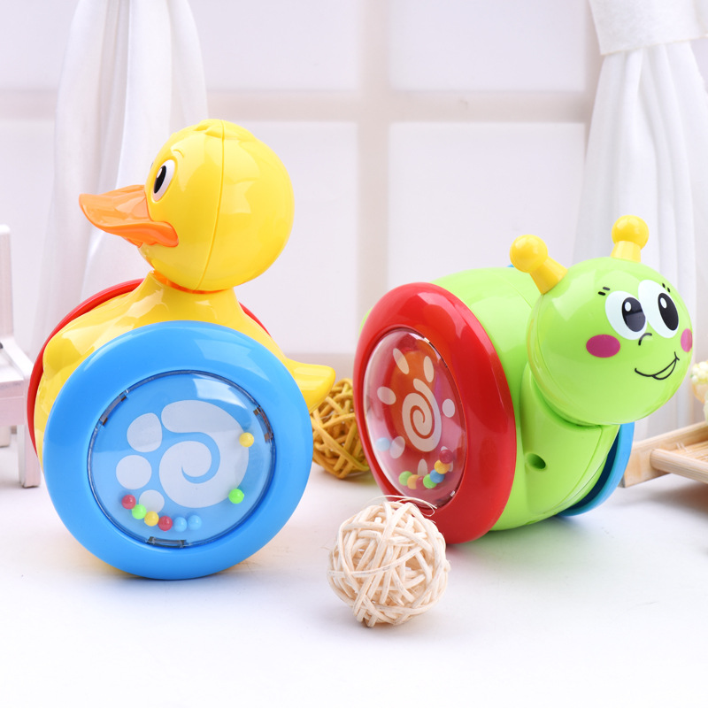 Cartoon Snail Duck Tumbler Doll Roly-poly Baby Toys Cute Rattles Ring Bell Newborns 3 Years Old Early Educational Christmas Toy