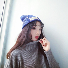 Warm Winter Fashion Knitting Wool Cap Male Female Pin Sleeve Head Tide Cloth Hats for Women Korean Institute of Wind Cold