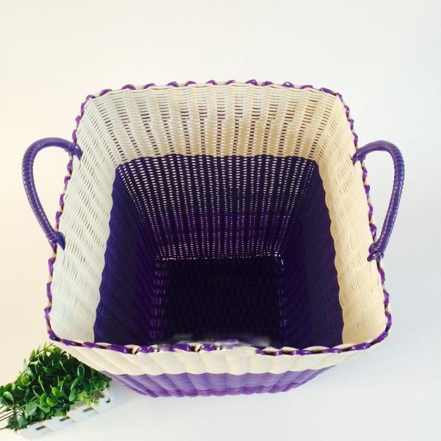 Dirty Clothes Basket Plastic Pipe Woven 4HQD (12)