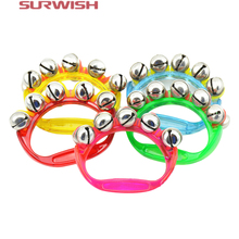 Surwish 1pcs Plastic Rhythm Band Wrist Bells Baby Kids Musical Instrument Toy - Random Color