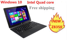 10inch mini laptop Windows 10 netbook Z8350 quad core processor touch capacitive screen dual cameras notebook computer(China)