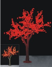 2.3m /7.6ft Height 1152 Leds Red LED Cherry Blossom Tree simulation light Wedding Garden patio Holiday Christmas Light NEW(China)