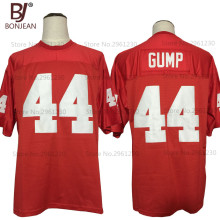 BONJEAN New Cheap FORREST GUMP #44 The Movie Jersey Red Sewn American Football Jersey Quality Mens Shirts Free Shipping