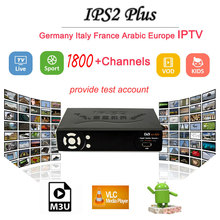IPS2 Plus Full 1080P DVB-S2 Satellite Receiver 1 year European IPTV available Spain/Brazil/French/Poland/EX-YU 1800+ tv channels(China)