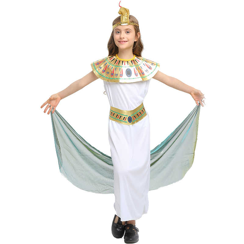 c112b83571ce Halloween Costumes Boy Girl Ancient Egypt Egyptian Pharaoh Cleopatra Prince  Princess Costume for Children Kids Cosplay
