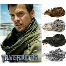 Army Military Tactical Arab Shemagh KeffIyeh Cotton Shawl Scarves Camping Paintball Head Scarf Face Mesh Desert Wrap Bandanas(China)