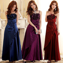 F~3XL Brand Sexy Fashion Sleeveless Strapless Women Large Size Special Occassion Peplum Banquet Dress Vestidos Purple Red Blue
