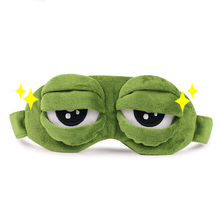 1Pc Adults Kids Sad Frog 3D Eye Mask Soft Sleeping Funny Cosplay Plush Stuffed Toys for Children Costumes Accessories Gifts 2017(China)