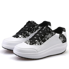 Women's Lace Up Swing Shoes Wedges Toning Walking Fitness Sneakers Shape Ups Platforms