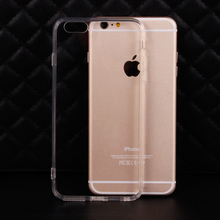 Hot Selling Soft Transparent TPU + Full Clear Acrylic Case Cover Skin Shell for iPhone 7 6 6S Plus SE 5 5S With Dust Plug 200pcs