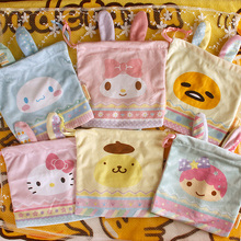 New Japan Sanrio Dolls Easter Series Cartoon Melody Gemini Cinnamoroll Hello Kitty Pouch Small Bag Dolls for Kids Gifts