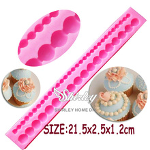 M320 Hot Long Pearl Shaped fondant mold,candy resin molds, silicone soap mold,silicone cake mould,fondant cake decorating tools