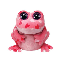 "Ty Beanie Boos 6"" 15cm Smitten Frog Plush Stuffed Animal Collectible Big Eyes Soft Doll Toy"