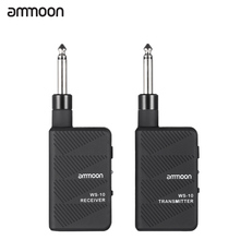 ammoon WS-10  Wireless Electric Guitar Transmitter Digital 2.4Ghz Audio Wireless Electric Guitar Transmitter Receiver Set