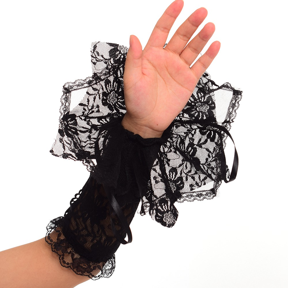 1 Pair Women Ladies Lace Cuffs Fake Sleeves Wrist Clothing Accessories Y