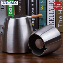 Cigarette steel Ashtrays for Indoor or Outdoor Use, Ash Holder for Smokers, Desktop Smoking Ash Tray for Home office Decoration,(China)