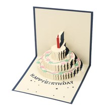 Greeting Cards 3D Pop Up Happy Birthday Invitation Card Valentines Day Handmade Card