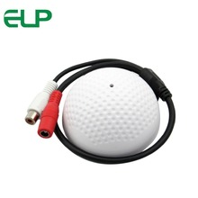 90m square Audio Monitor Range CCTV mini golf dome style external Audio Microphone for cctv ip camera(China)