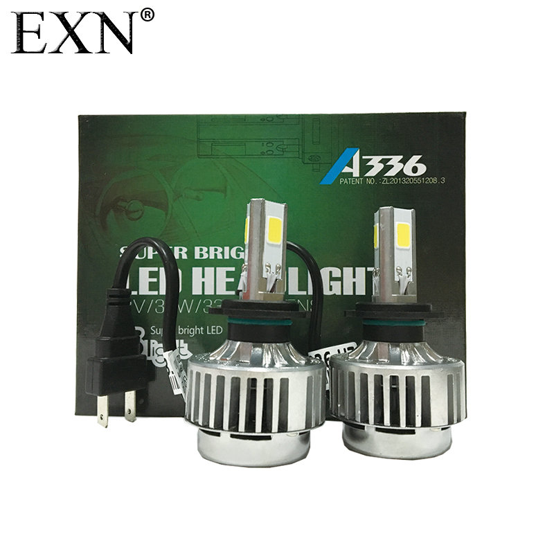 Super Bright LED Headlight Kits H7 With 3 LED Chips 12V/24V DC 36W 3300LM High Power A336 H7 LED Headlight  All In One LED Bulb<br>