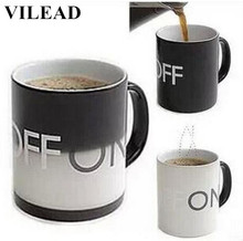 VILEAD Creative Color Changing Milk Mug Ceramic Coffee Cup With Handgrip Office Water Cup Home Drinkware Christmas New Year Gift(China)