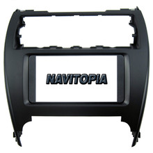 NaviTopia 202*102MM Car Radio Fascia for Toyota Camry Stereo Face Plate Frame Panel Dash Mount Kit Adapter Trim Bezel Facia(China)