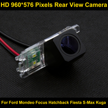 PAL HD 960*576 Pixels Car Parking Rear view Camera for Ford Mondeo Focus Hatchback Fiesta S-Max 2007 2008 2010 2011