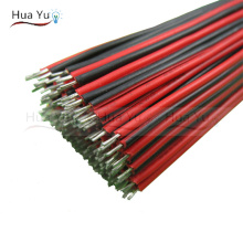 (40PCS) 10CM 2pin wire cable, Red black wire, AGW22 thinned copper wire, Electronic cablb, extend wire for CCTV, Sound, power(China)