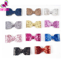 "Girls Kids Toddler Small 3"" Glitter Sequin Hair Bows With Clips Barrettes Children Hair Accesories 3pcs/lot"