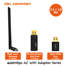 COMFAST 600Mbps USB Wi fi adapter wifi dongle Dual Band 802.11ac/a/b/g/n Wireless N 2.4G/5.8G WiFi Adapter Network card CF-915AC(China)