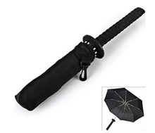 1215 New Arrival Samurai Katana Shape Umbrella Designed with Comfortable Samurai Sword Handle (Black)