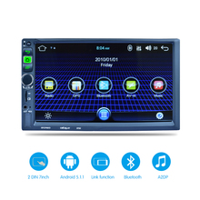 "7"" 2 DIN Bluetooth GPS Navigation Car Stereo MP5 Player Fully Touch Screen 1G/16G Support FM with GPS Receiver WIFI Rear Camera(China)"