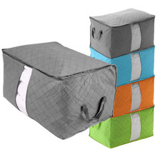 Hot 2016 New Fashion Bedding Clothing Pillows Large Folding Storage Bag Zip Handles Container Storage Box Cheap Z3