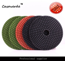 "Free Shipping standard 5""(125mm) with 2.5mm flexible 5 inch polishing pads for granite and marble(China)"