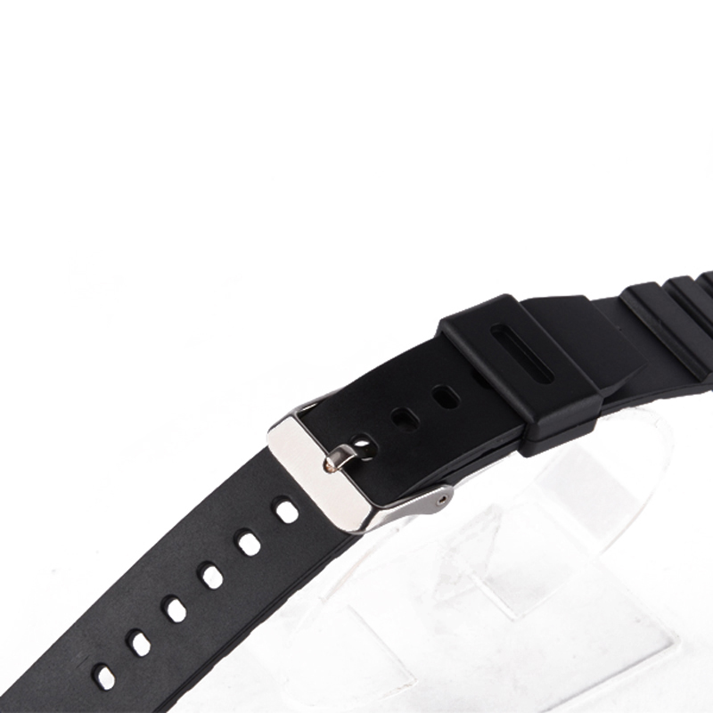 Shellhard Original Watch Band 18/20/22mm Mens Unisex Black Plastic Wrist Watch Band Strap For Sport Watch Buckle Bracelet Band