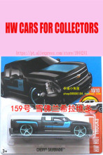 New Arrivals 2017 Hot Wheels 1:64 Black Chevy Silverado Diecast Cars Collection Kids Toys Vehicle For Children Juguetes(China)
