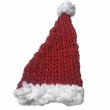 Christmas Knitting Hat Santa Claus Hats Gift Wool Hat Warm Long Tail Handmade Hats For Boys Girls Children Kids Bonnet(China)